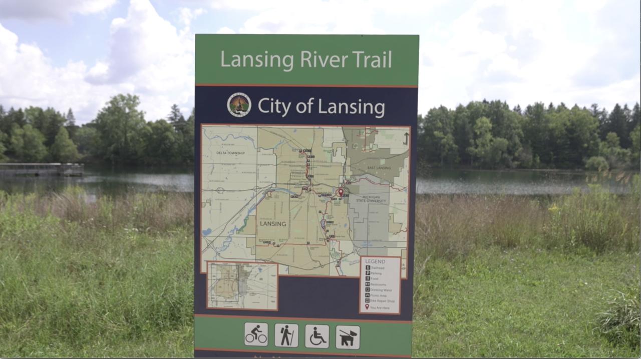 Lansing River Trail map
