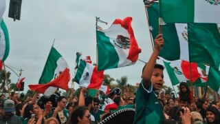 Fans block South Bay street after Mexico victory