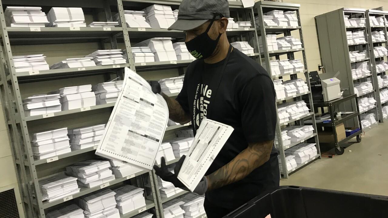 Milwaukee election worker ballot