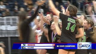 Mendon volleyball wins second consecutive state championship