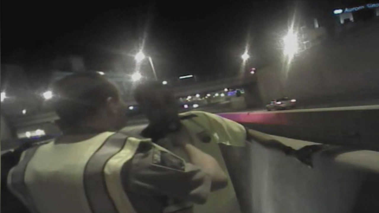 WATCH: DUI suspect runs from police officer
