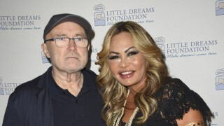 Phil Collins and Orianne Collins in 2017