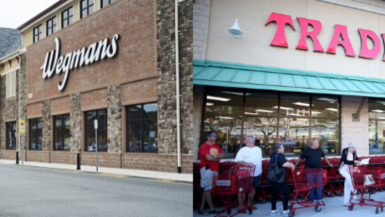 Morning Buzz: Which grocery store chain do you think is better, Wegmans or Trader Joe's?