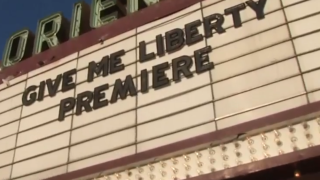 Marquee at Oriental Theatre for Give Me liberty