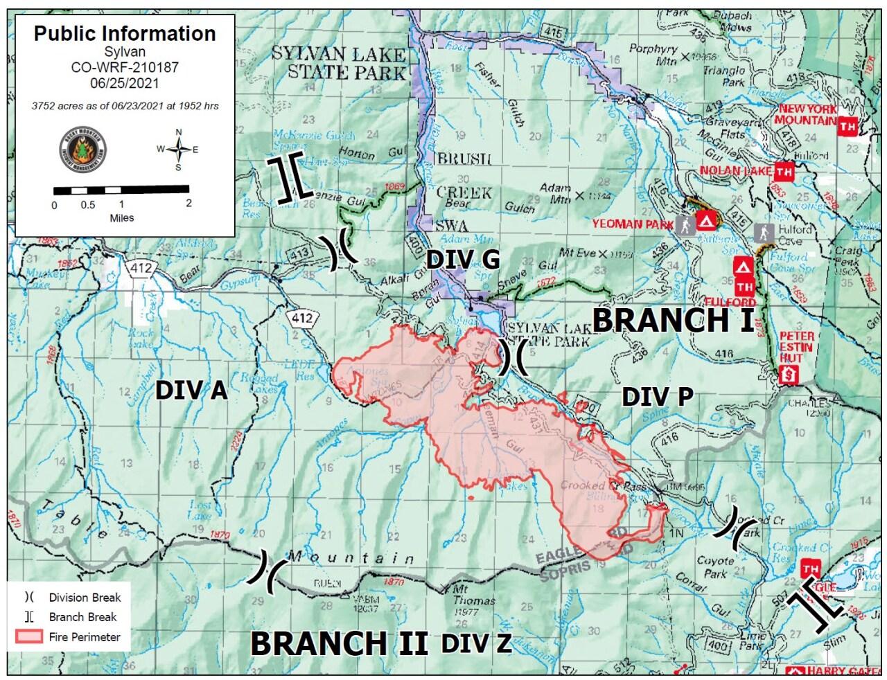 Sylvan map June 25 2021 map