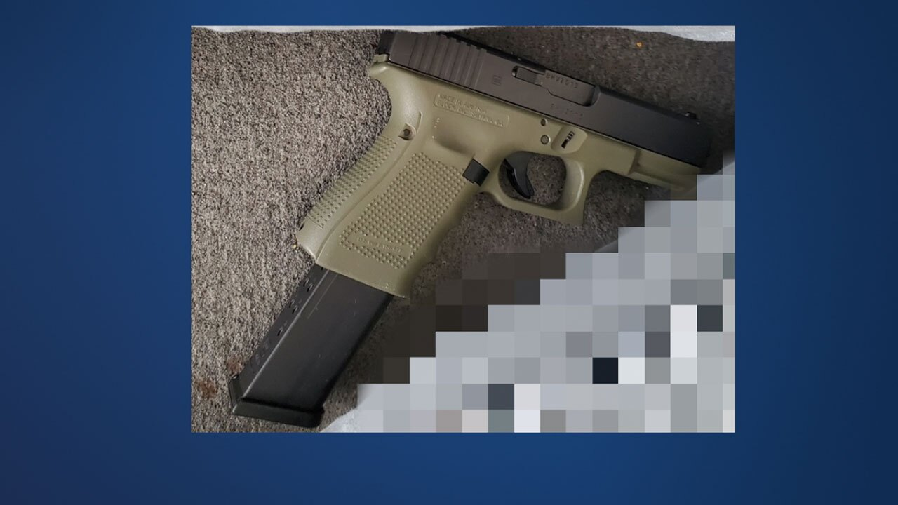 Gun in the possession of a person who shot at PBSO deputies on July 23, 2021