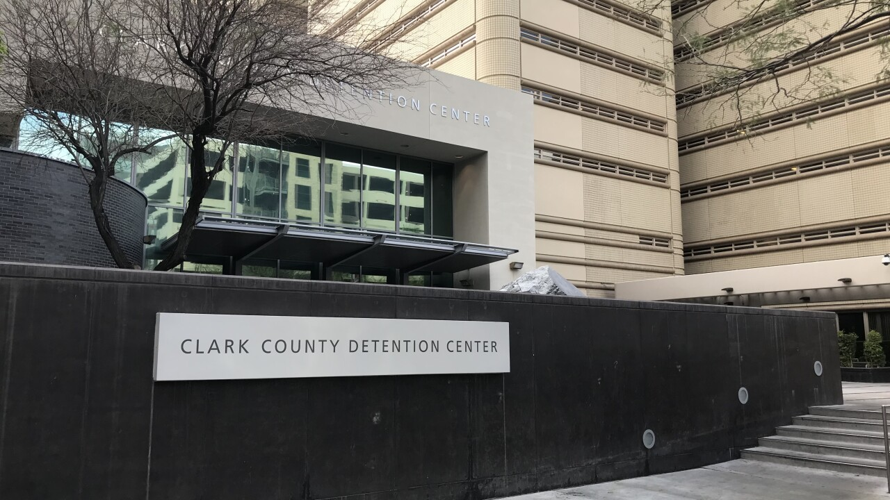 The Clark County Detention Center in downtown Las Vegas