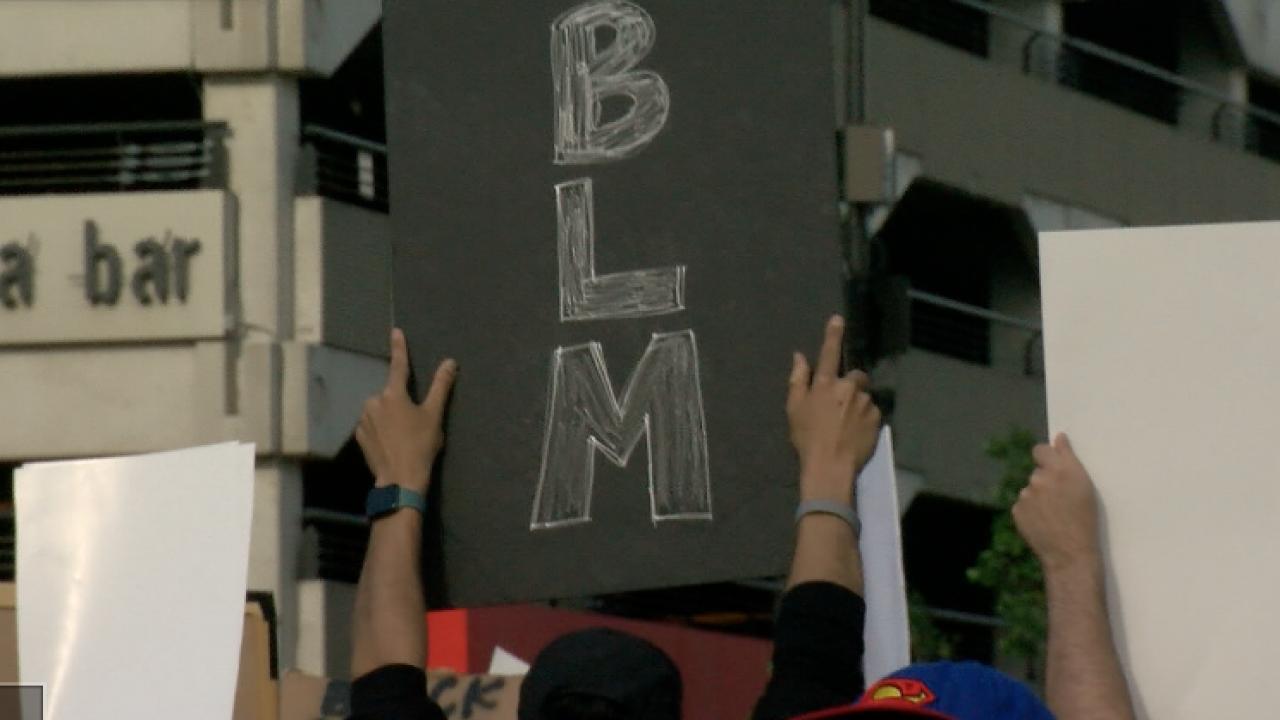 BLM sign omaha protest black lives matter