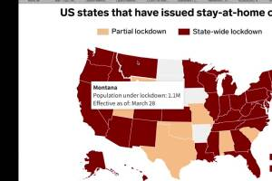 State around Montana have not issued stay-at-home orders