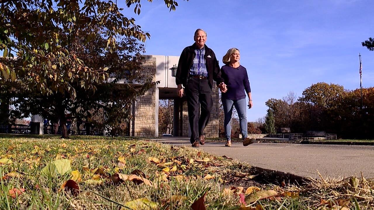 Dennis and Stephene Moore walk.jpg