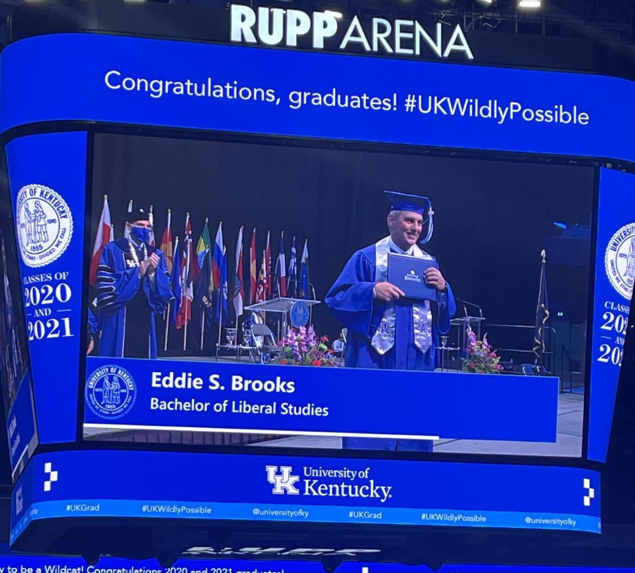 Eddie Brooks graduation