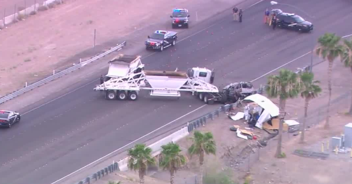 1 person dead after semi-truck, SUV crash near Las Vegas