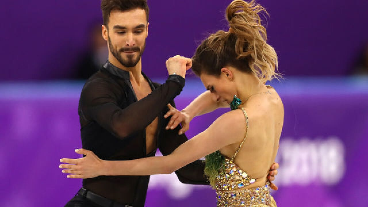 Sacre bleu! French skater undone by wardrobe malfunction on live TV