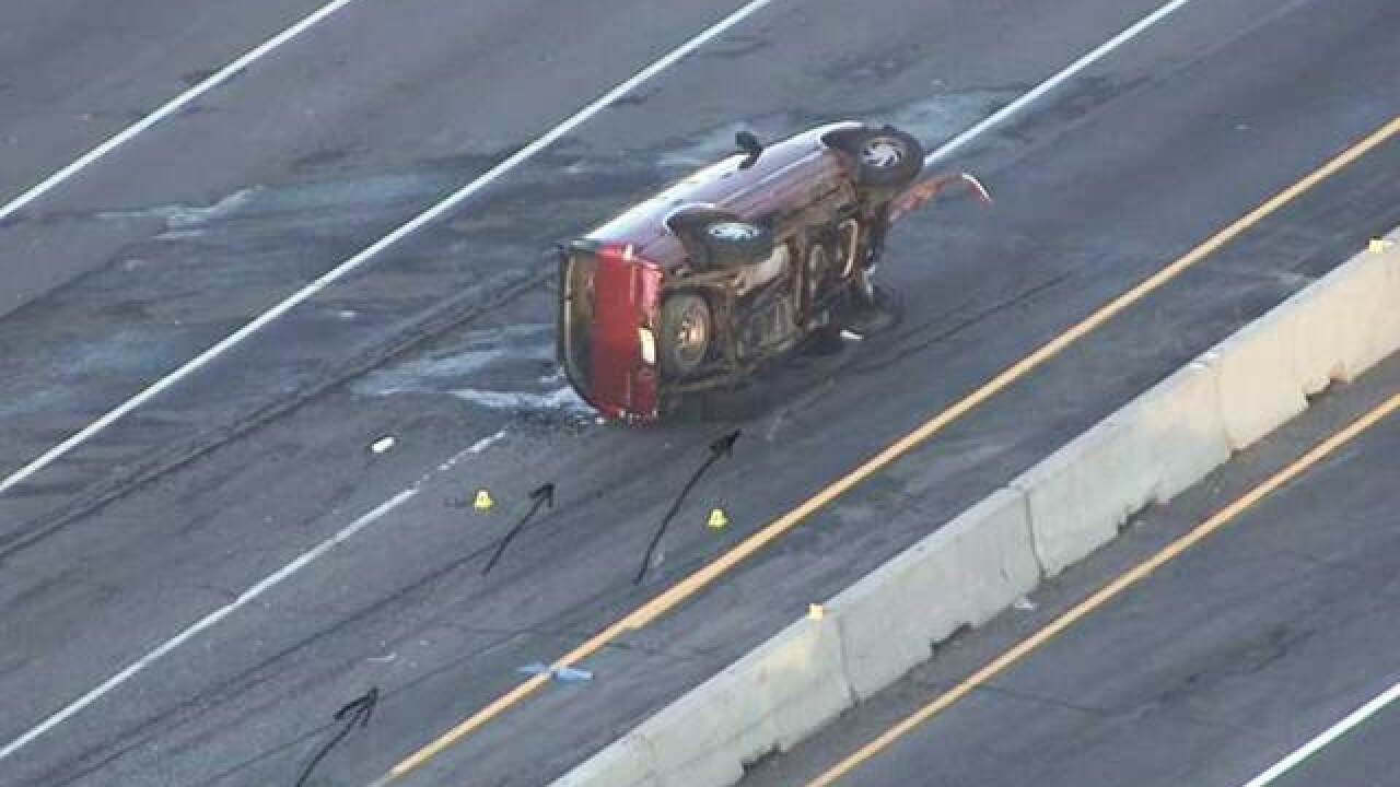 EB I-70 reopens at Havana after rollover crash