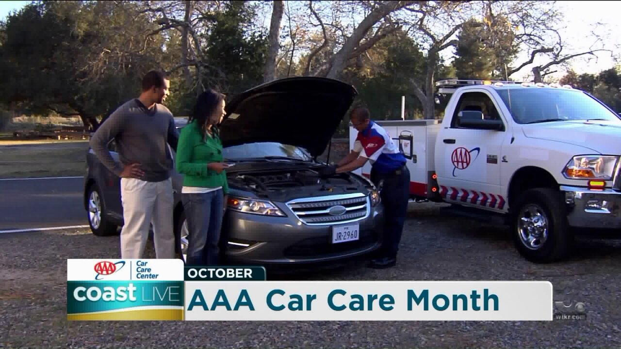 Maintenance education for AAA Car Care Month on Coast Live