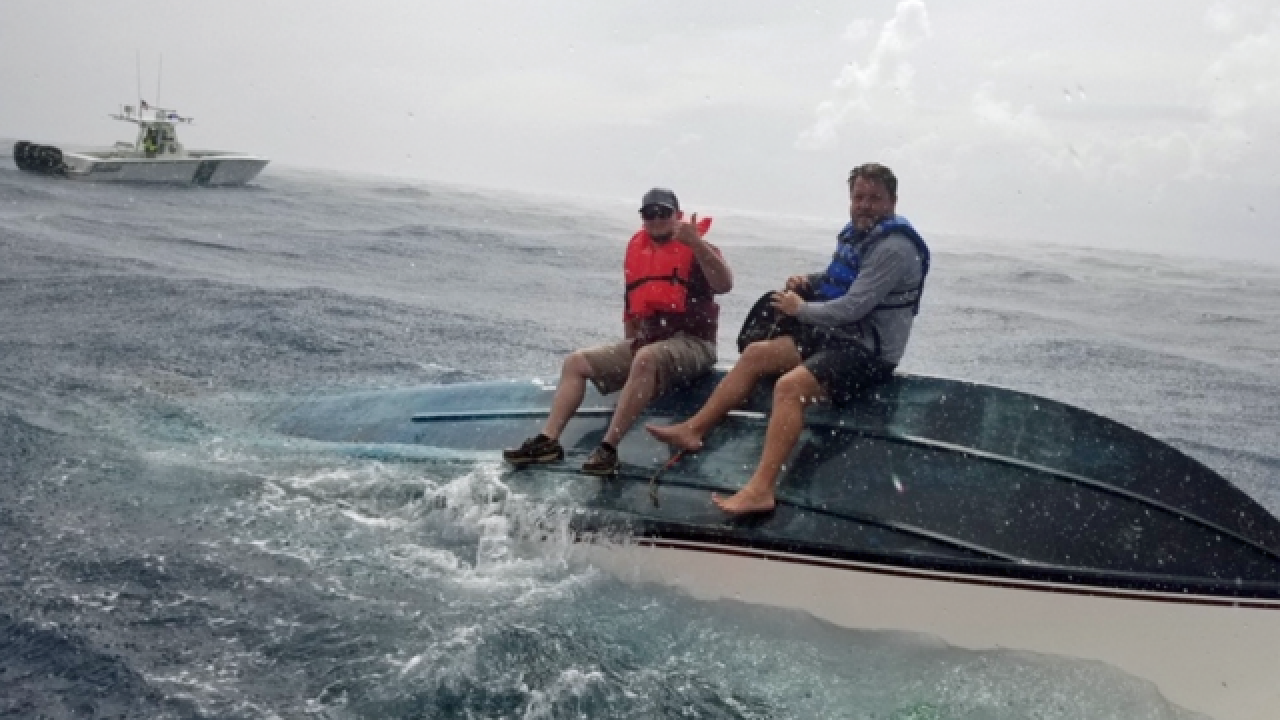 Boaters rescued near Lake Worth Inlet