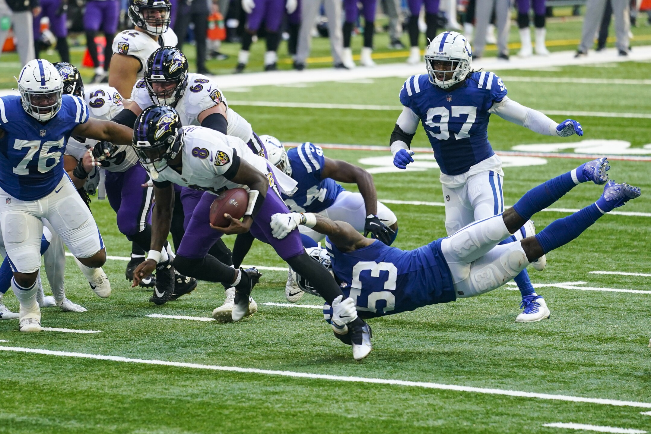 APTOPIX Ravens Colts Football