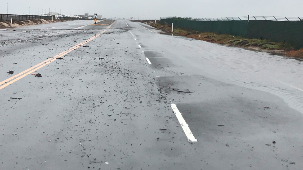 Portion of Pacific Coast Highway shuts down as rain floods