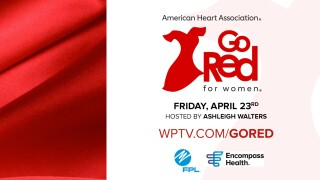 'Go Red for Women' American Heart Association graphic