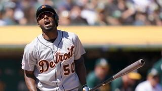 Travis_Demeritte_Detroit Tigers v Oakland Athletics