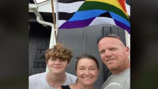 Dad Flies Ally Pride Flag To Support His Son