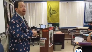 Park Vista Community High School teacher sings song to help shake first day jitters