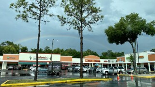Drive-in move night Carrollwood shopping plaza.