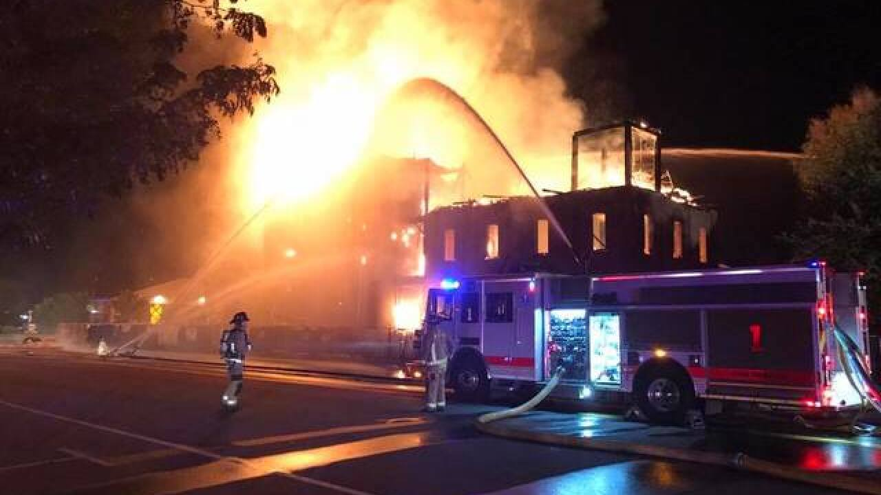 Historic Windsor Mill catches fire
