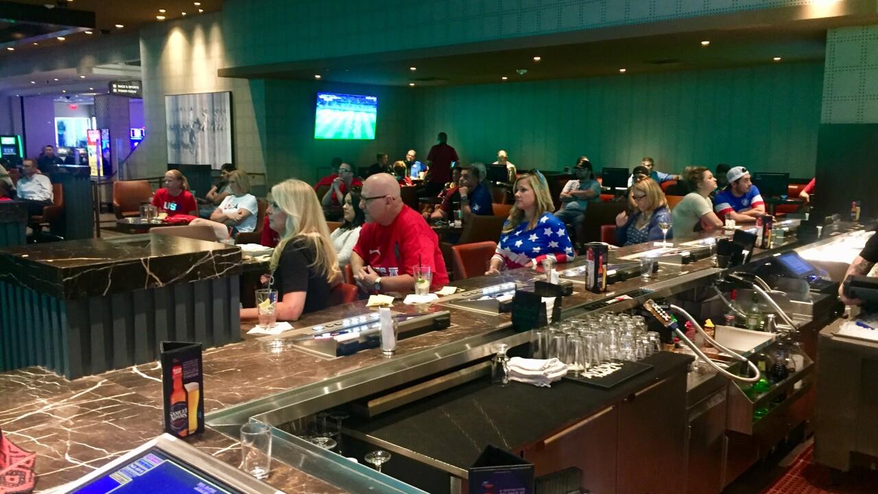 Vegas locals watch Team USA beat England in World Cup semifinals