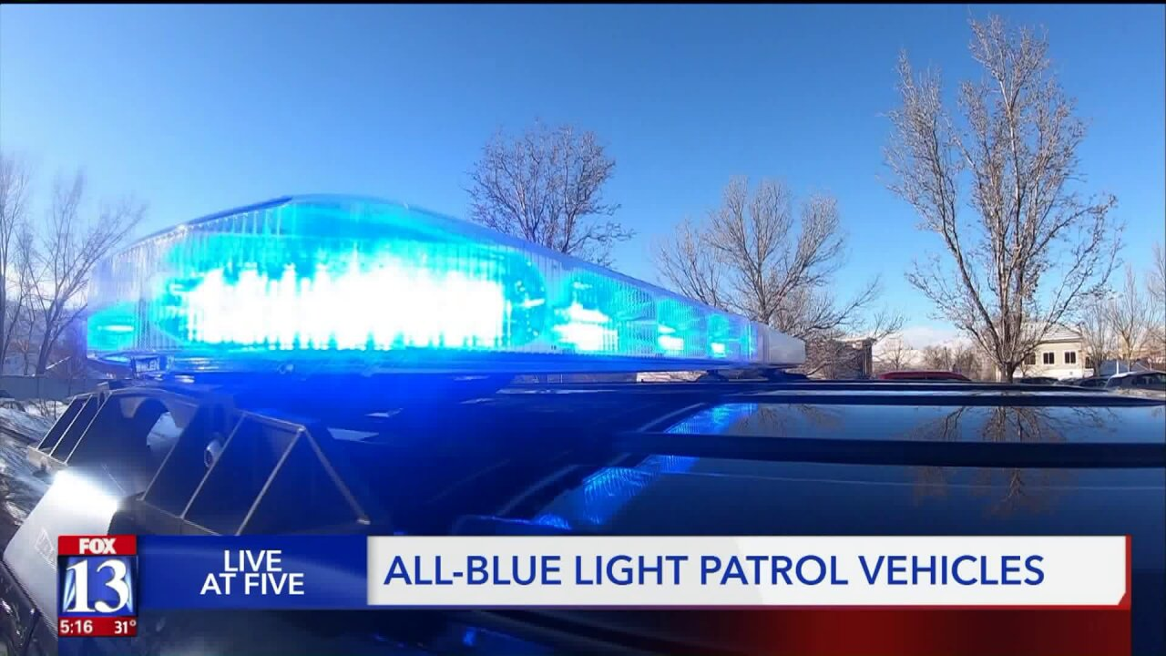 Draper Police switching to blue lightsonly