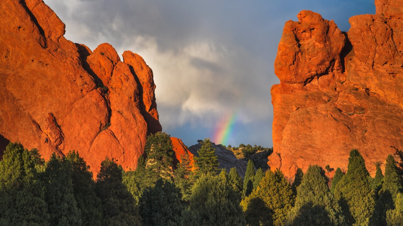 Garden of the Gods rainbow