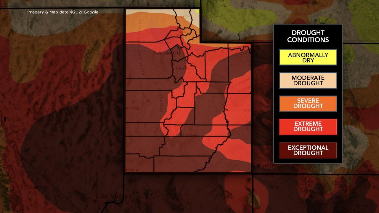 Utah drought map