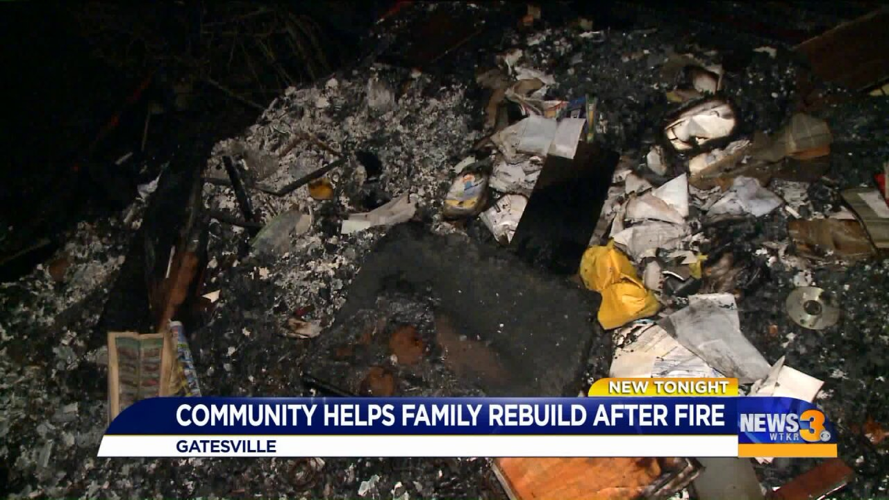 Neighbors rally behind Gates Co. family that lost home, belongings in destructive fire