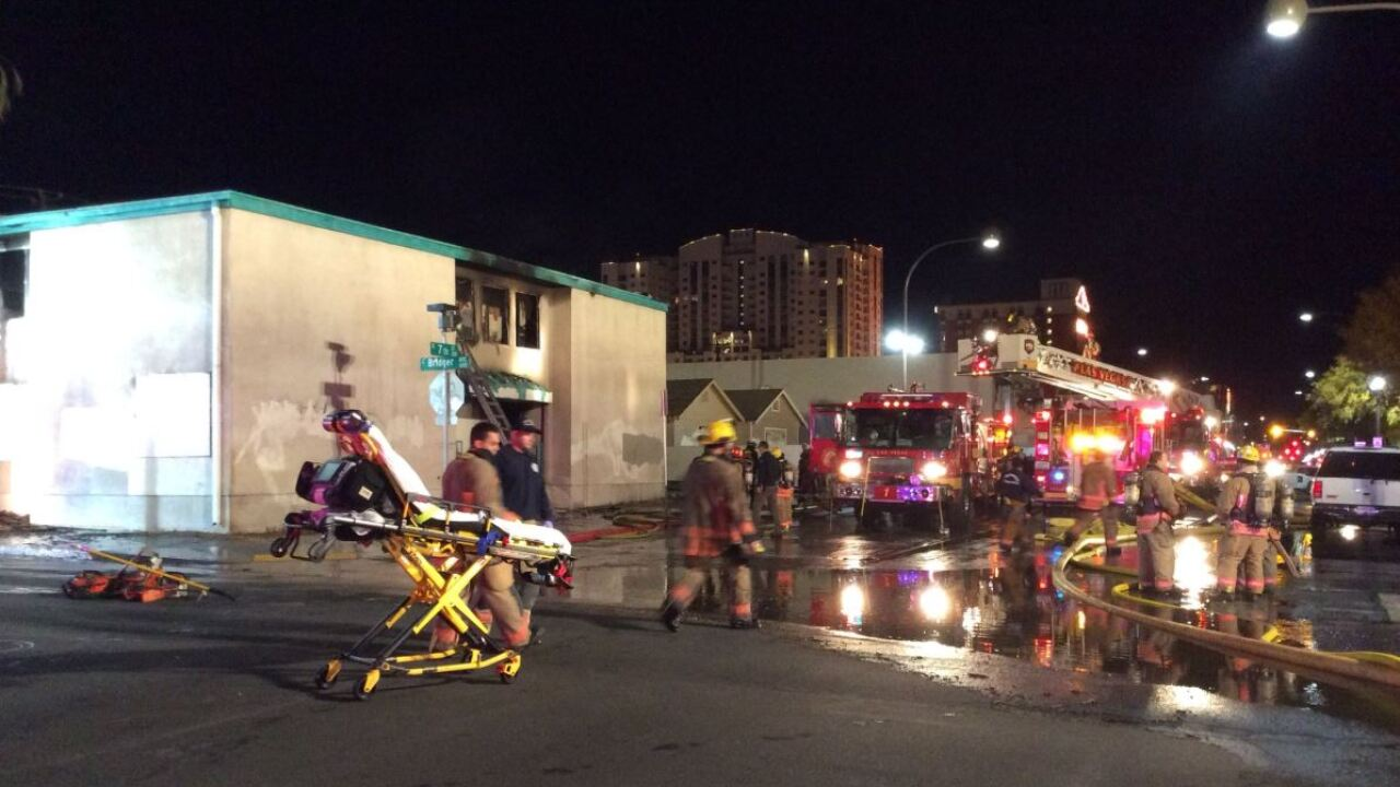 Las Vegas Fire and Rescue has been busy putting out fires at a variety of vacant buildings downtown