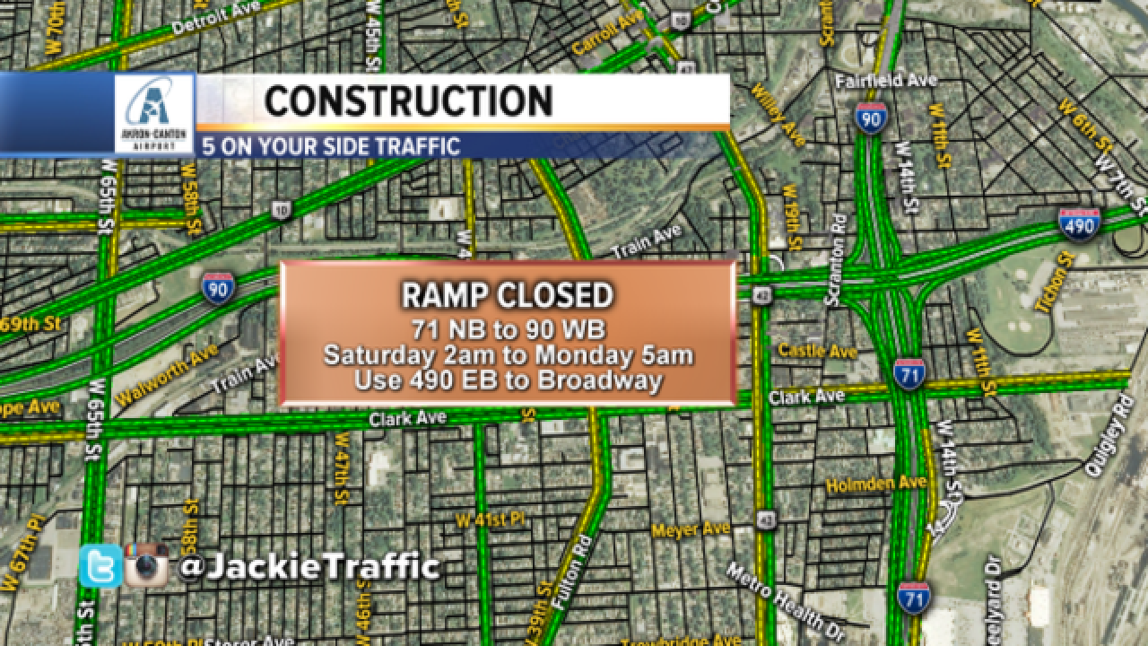 Major closures will affect weekend plans