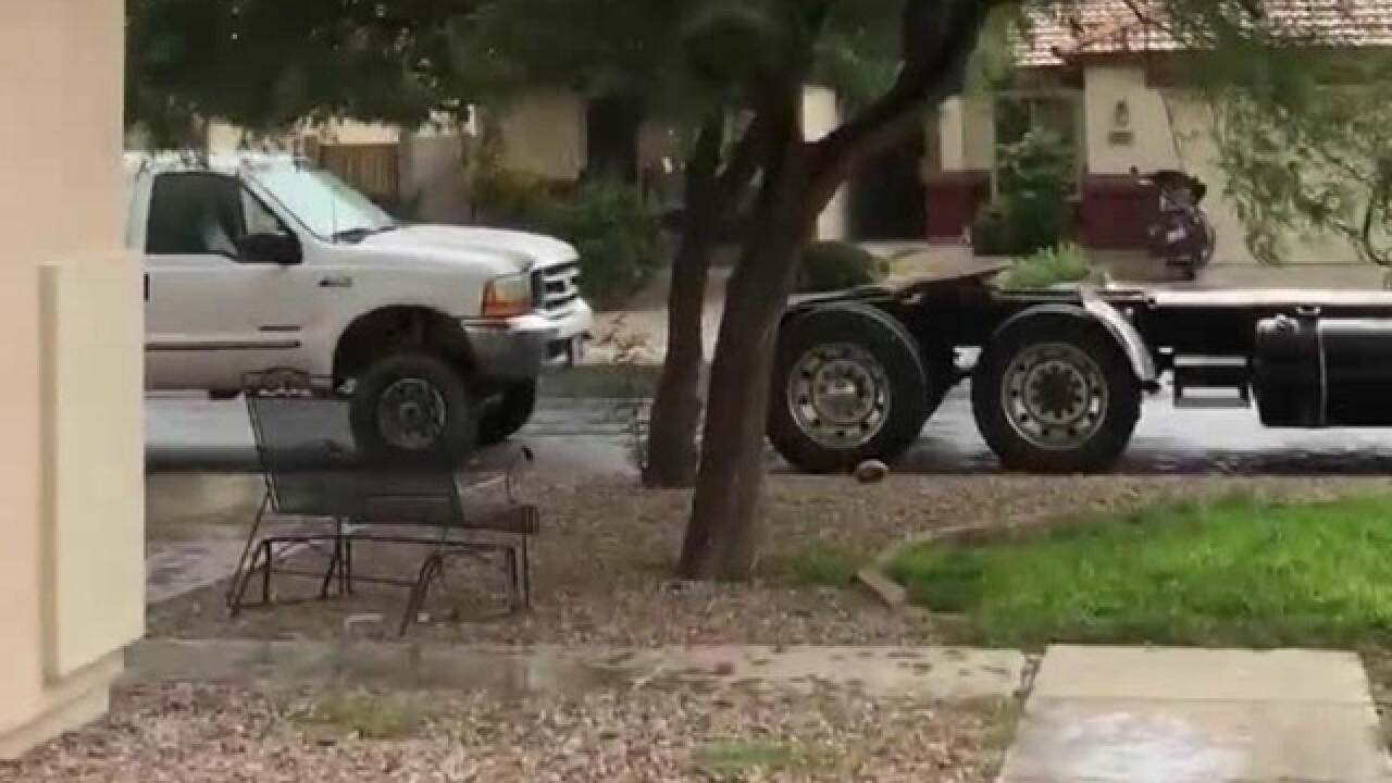 VIDEO: Storm brings hail, rain, & dust to Valley