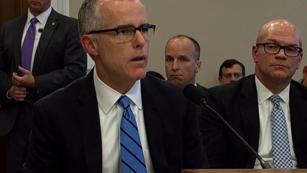 McCabe seeks immunity for testimony in congressional hearing over FBI handling of email probe