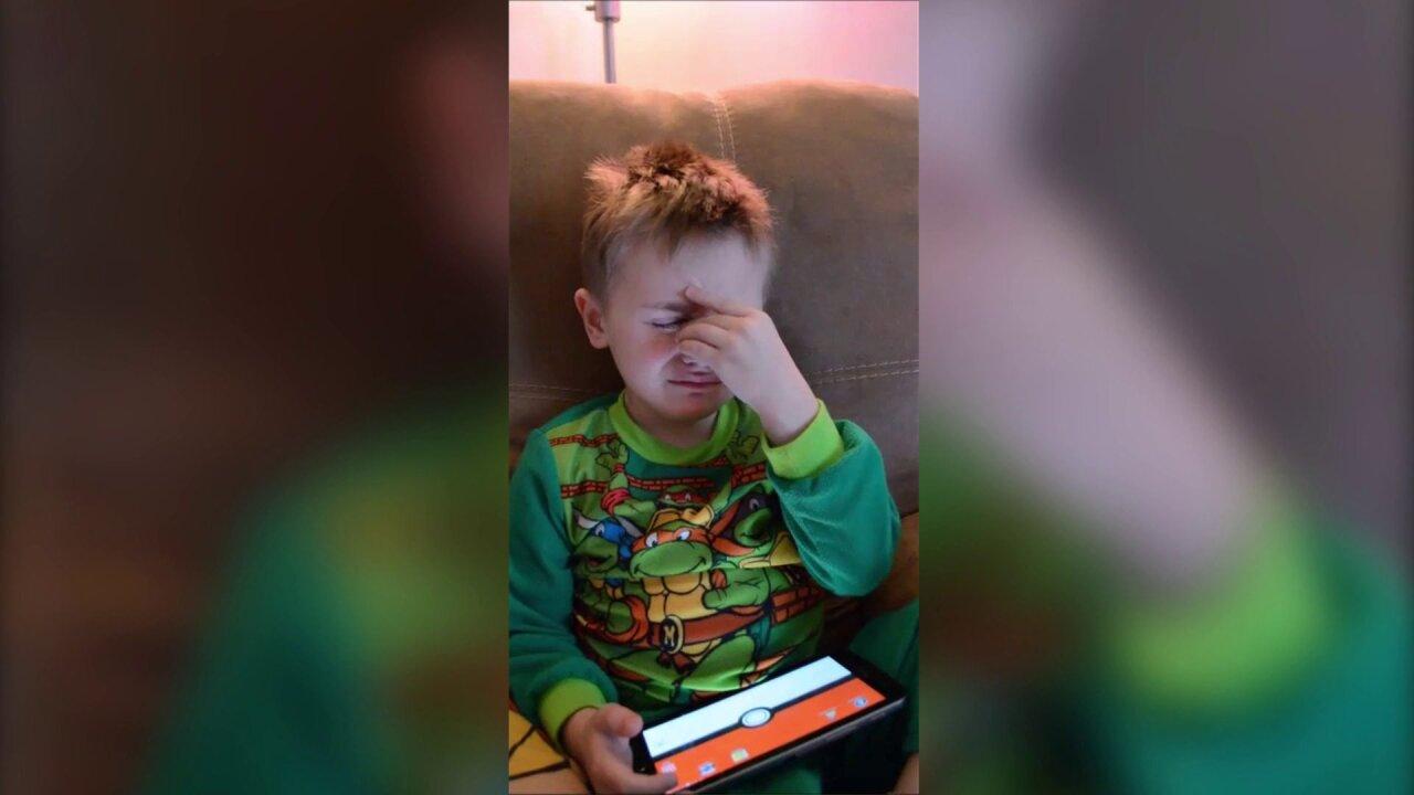 Watch child's emotional meltdown over fast meltingsnow
