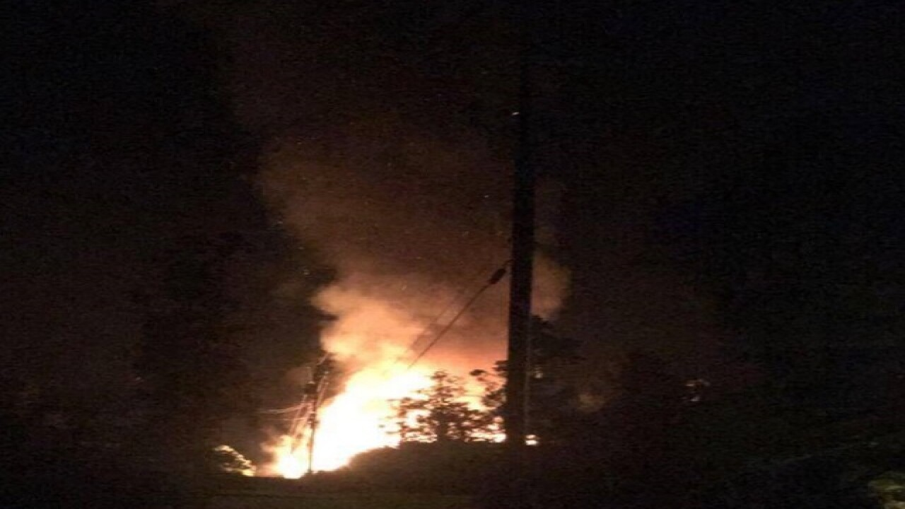 Large fire reportedly burning in Payson