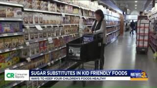 Sugar substitutes hiding in kid-friendlyfoods