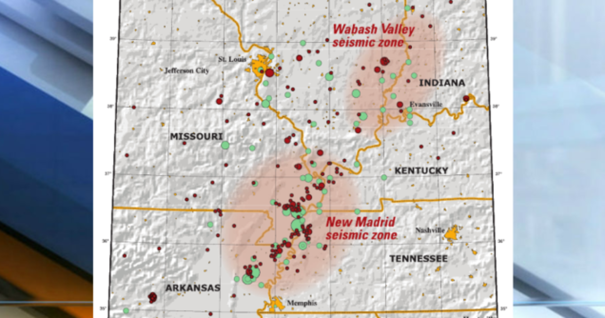 Indiana sits near two major fault lines, one which has a history of ...