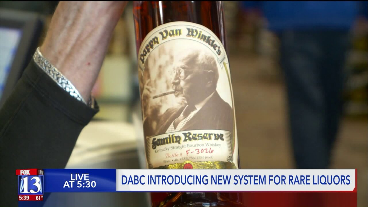 Utah to launch 'lottery' to handle Pappy Van Winkle and other rare liquors