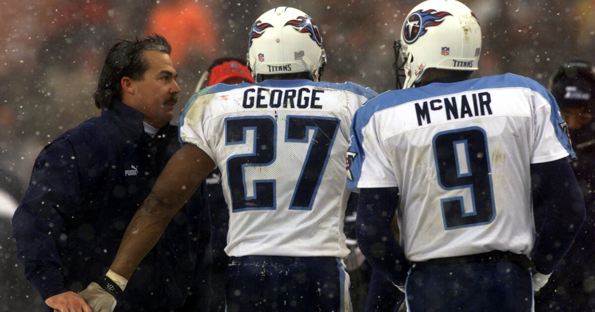 low priced 1f5cf 5ca3a Tennessee Titans to retire numbers of Eddie George, Steve McNair
