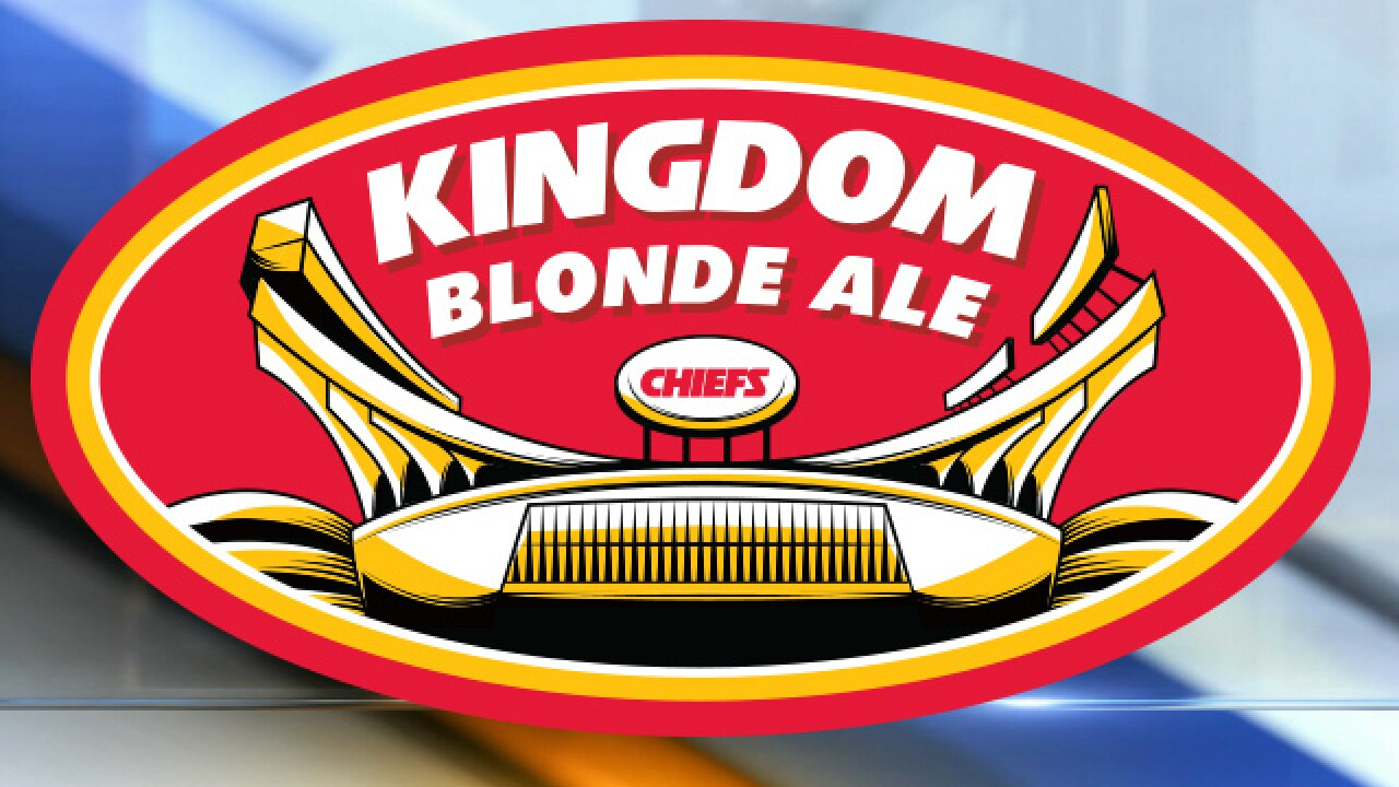 Chiefs make history with new brew trademark: Kingdom Blonde Ale
