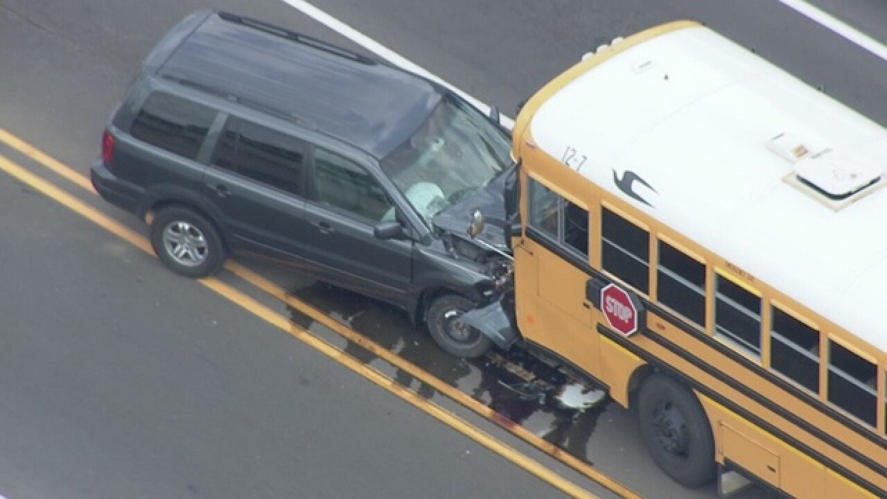 School bus accident on 15 Mile and Dequindre