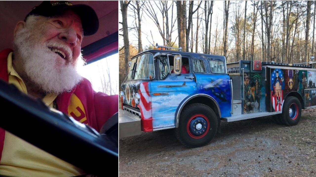 Rusty, old firetruck helps save Vietnam Vet with PTSD