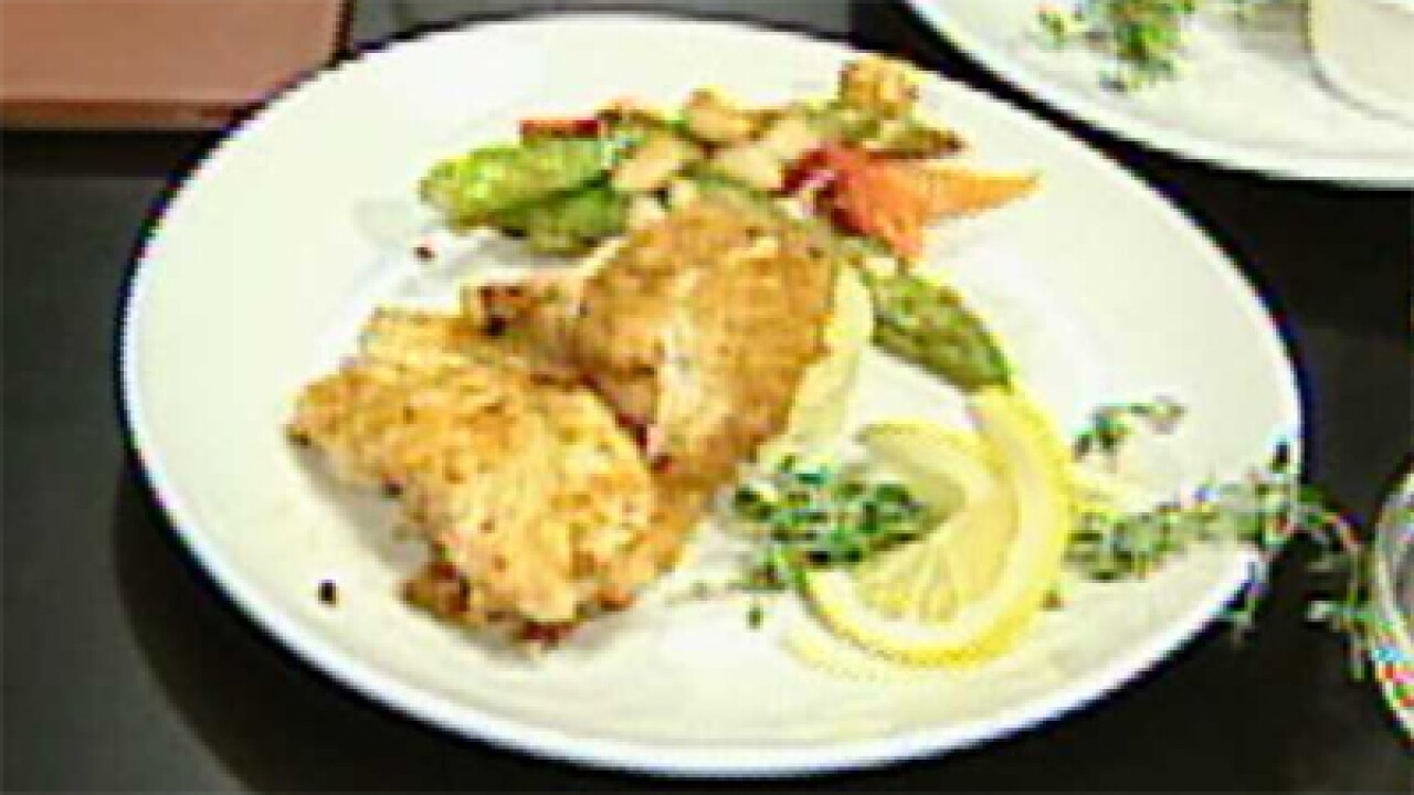 Parmigiano Crusted Chicken Piccata (03.09.12)