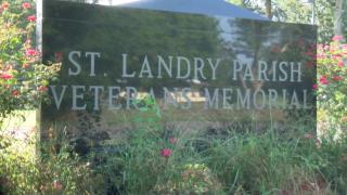 St. Landry Parish Veterans Memorial sign