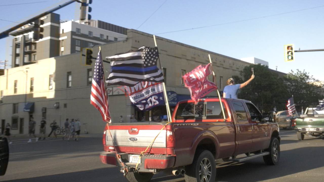 """Defend The Police"" rally rolls through Bozeman"