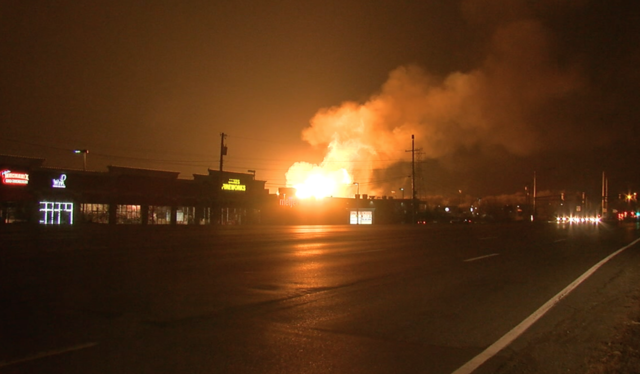 PHOTOS: Explosion, massive fire in Orion Township